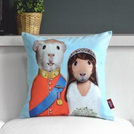 Lovely Cartoon Creative Plush Loving Couple Throw Pillow