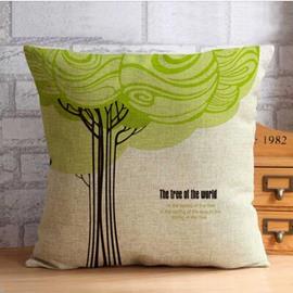 The Tree of  World Print Throw Pillow