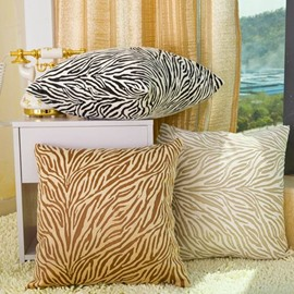 Glamorous Fashion Zebra Print Plush Throw Pillow
