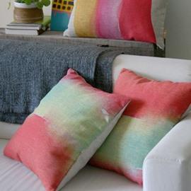 Wonderful Adorable Gradient Watercolor Throw Pillow