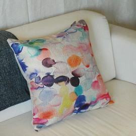 Amazing Fancy Geometric Figure Watercolor Throw Pillow