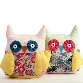 Adorable & Fancy Fashion Cute Owl Pattern Plush Pillow