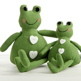Adorable Lilike Frog Shape Plush Green Pillow