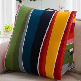 Super Lovely Iridescent Color Style Coral Fleece Filling Throw Pillow