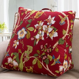 Fantastic Joyous Birds Playing over Branches Throw Pillow