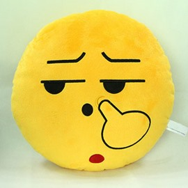 Creative Round Shape Pick Nose Pattern Throw Pillow
