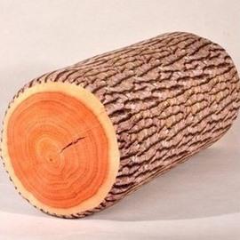 Amazing Plush Ginkgo Stump Shape Pattern Throw Pillow