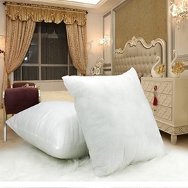 Super Comfy Plain Pure White Polyester Pillow