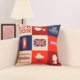 Modern London Landmark Print Decorative Throw Pillow