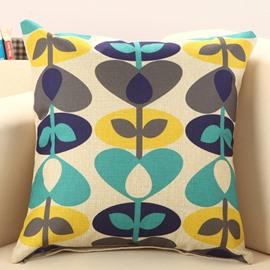 Fresh Grass Print European Style Throw Pillow