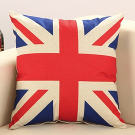 The Union Jack Print Cotton & Linen Throw Pillow