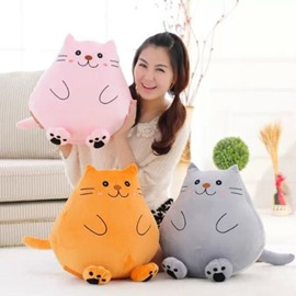 Super Cute Kitty Design Plush Throw Pillow