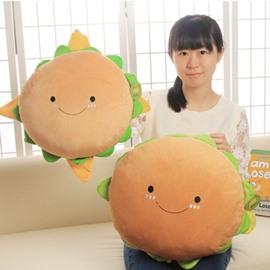 Special Delicious Hamburger Design Plush Throw Pillow