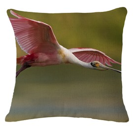 Sweet Flying flamingo Print Square Throw Pillow