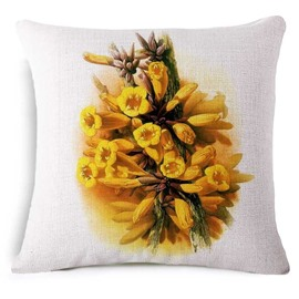 Beautiful Mayodendron Igneum Print Square Throw Pillow