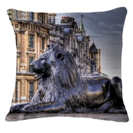 Excellent Trafalgar Square Print Square Throw Pillow