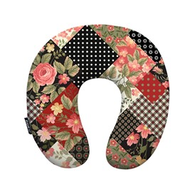Rural Style Floral Print U-Neck Travel Pillow