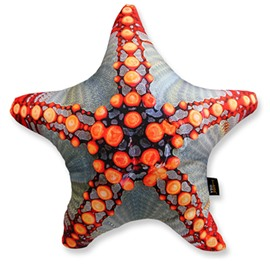 Creative 3D Starfish Shaped Hamburger Throw Pillow