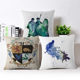 Modern Style Watercolor PP Cotton Square Throw Pillow