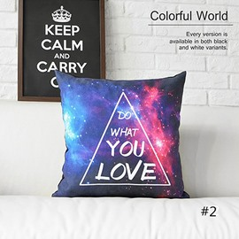 Do What You Love Colorful Clouds and Galaxy Space Prints Plush Throw Pillow