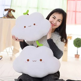 Cute Cloud and Green Shoot Shape Plush Throw Pillow