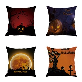 Square Linen for Halloween Decoration Throw Pillow