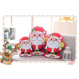 Red Santa Claus Holding the Stars Soft Plush Throw Pillows