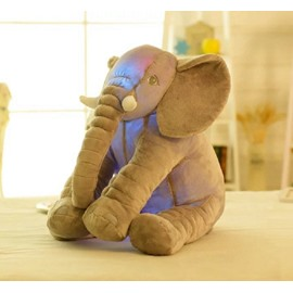 Elephant Shaped Glowing Soft Plush Throw Pillow