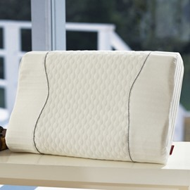 White Neck Protection Memory Foam Pillow