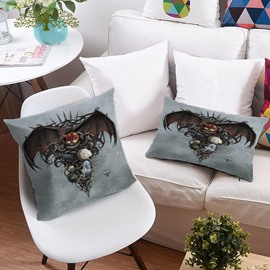 3D Halloween Ghost and Werewolf Printing Polyester Throw Pillow