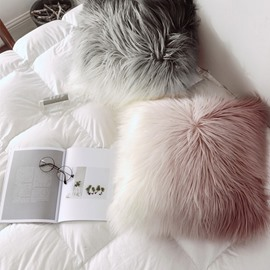 Home Decorative Super Soft Plush Fur Throw Pillow