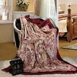 Enticing Most Terrific Fashion Paisley Soft Blanket
