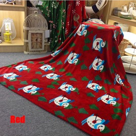 High Quality Creative Christmas Style Flannel Blanket
