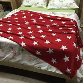 Popular Star Print 100% Cotton Thread Blanket