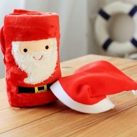 Likable Santa Claus Design Christmas Coral Blanket