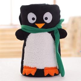 Super Lovely Penguin Design Comfortable Coral Blanket