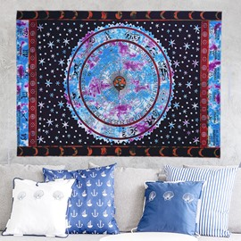 Tribe Star Astrolabe Prints Exotic Style Blue Hanging Wall Tapestry