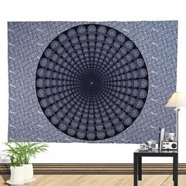 Black Hole Mandala Pattern Ethnic Style Wall Tapestries