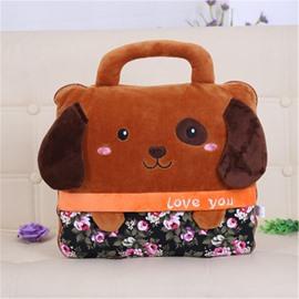 Brown Dog Design Dual-Use Portable Throw Pillow /Blanket