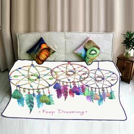 Hanging Dreamcatcher Pattern Flannel Super Soft Bed Blankets