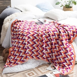 Rectangle Shape Cotton Material Portable Feature Bedding Blanket