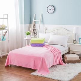 Twill Design Plain Flannel Soft Bed Blanket