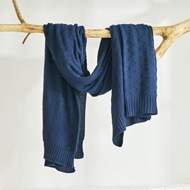 Plain Pattern Cotton Knitting Wool Blanket for Baby