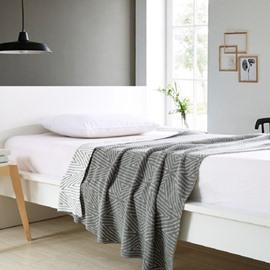 Geometric Stripe Pattern Cotton Knitting Spring Blanket