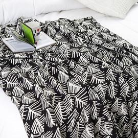 Unique Dense Tree Printing Cotton Knitting Spring Blanket