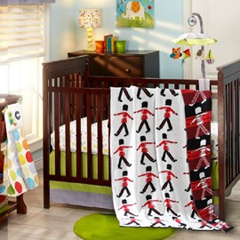 Cartoon Soldiers Printing Soft Baby Cotton Thread Blanket