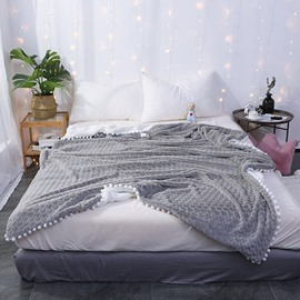Double-Sided Super Soft Luxurious Plush Pure Color Blanket