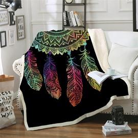 Multifunctional And Warm Polar Velvet Printed The Lazy Blanket