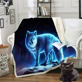 Durable Double Thickened Spiritual Animal Printed 3D Lazy Blanket