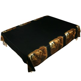 Unique Lion Print Polyester 3D Flat Sheet
